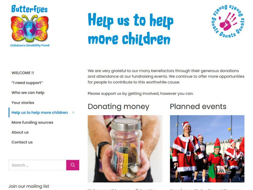 Butterflies Children's Disability Fund