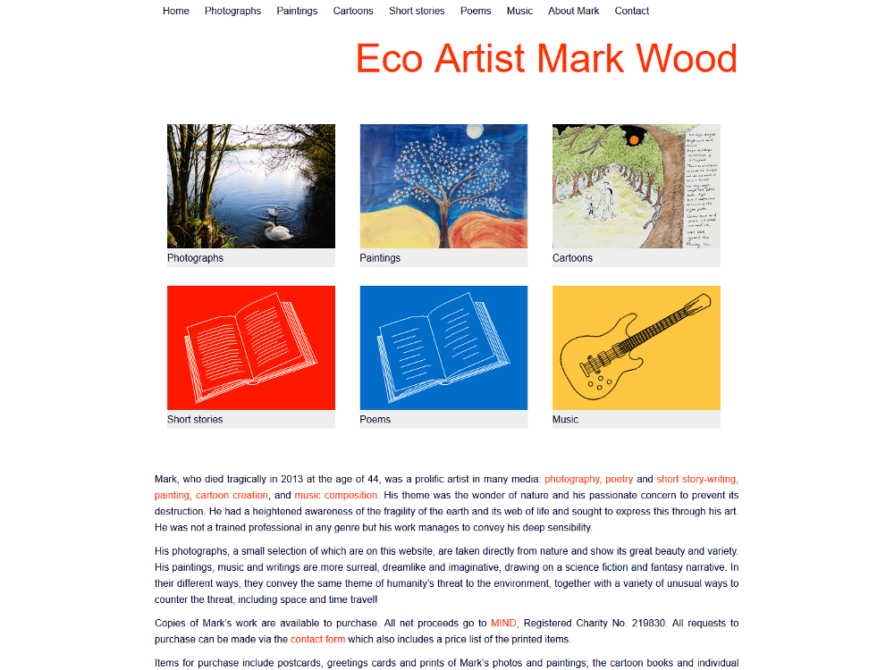 Eco Artist Mark Wood